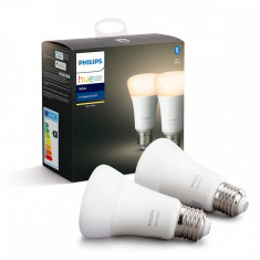 Set 2 becuri inteligente LED Philips E27 2700K