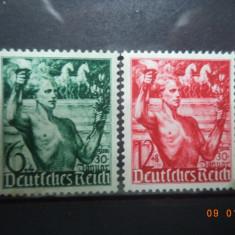 1938  Germania ( Reich ) Mi 660 - 661  Serie completa**, Nestampilat