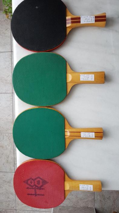 Colectie palete tenis de masa, anii '70 -'80
