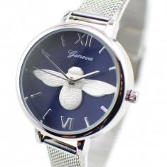 Ceas dama elegant Geneva Silver GV17SBL