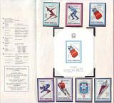 1967 Romania, JO de Iarna Grenoble LP 657, pliant filatelic de prezentare