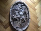 Panoplie Bahus,Bachus, basorelief in compozit