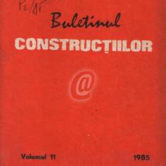 Buletinul constructiilor, vol. 11 (1985)