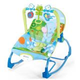 Balansoar Bebe Cu Vibratii Transformabil in Scaunel , Cu Jucarii, Multicolor, Altele, Plastic
