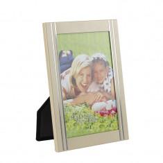 Rama foto Golden Memories metalica, 10x15, pentru birou, insertii arginti