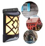 Cumpara ieftin Lampa de gradina, solara, cu senzor de miscare, efect de flacara