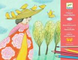 Atelier creioane acuarela Djeco, Echappees belles