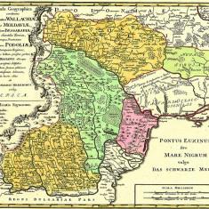 Harta Moldova, Valahia si Basarabia 1769 |