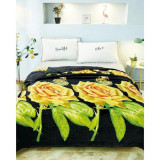 Cumpara ieftin Patura de pat cocolino 230×200, RozFleece, trandafiri aurii