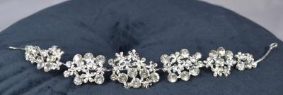 Diadema cu floricele si pietre foto