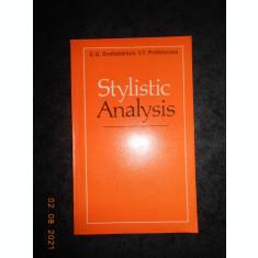 E. G. SOSHALSKAYA - STYLISTIC ANALYSIS (1976)