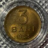 Romania 3 Bani 1953 UNC cu luciu in capsula