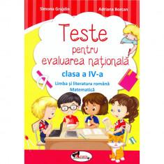 Teste pentru evaluarea nationala clasa a IV-a - Simona Grujdin, Adriana Borcan