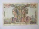 Cumpara ieftin Rară! Franța 5000 Francs/Franci 1952