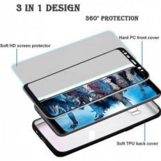 Husa FullBody MyStyle Pro Black pentru Samsung Galaxy S8 acoperire completa 360 grade cu folie de protectie gratis