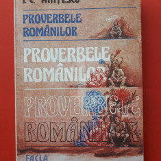 PROVERBELE ROMANILOR × I Hintescu