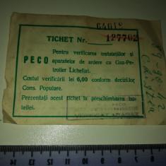 BILET PECO PENTRU VERIFICAREA INSTALATIILOR GPL