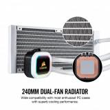Cooler cpu corsair hydro h100i rgb platinum aluminium material pwm