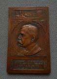 Placheta 1907 Ioan. N. Lahovari - Agricultura - Expozitia gen. 1906 - medalie