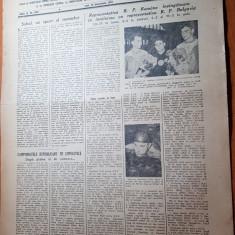 sportul popular 23 noiembrie 1953-inot,gimnastica,sah,CCA-dinamo tbilisi 1-0