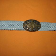 Curea piele catarama cu strasuri (lg 94 cm)