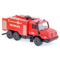 Masinuta SOS Pompieri Mercedes Benz Zetros, Scara 1:64