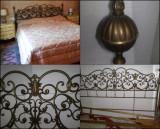 Pat vintage/antic/bronz/baroc/fier forjat/alama/art nouveau, Paturi si seturi dormitor, Dupa 1950