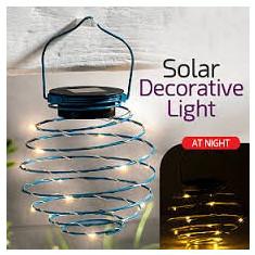 Lantere decorative  lampă spirală solară GT EZ 15 lumini decorative, GL-910B