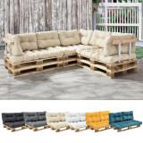 [en.casa]® Perna spate Paletten HTPC pentru mobilier paleti, 60 x 40 x 20/10 cm, poliuretan, bej HausGarden Leisure, [en.casa]