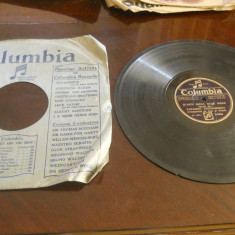 Placa patefon/gramofon Columbia-Zavaidoc Theodorescu- in coperti originale