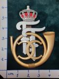 Insigna 7-ani REGIMENT 1 VANATORI Principele Ferdinand; reproductie Regalista