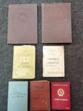 Lot 7 carnete vechi.