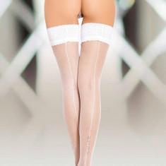 Stockings Softline cu Dunga - Alb