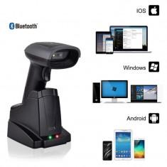 Cititor coduri bare 2D Bluetooth, Android iOS PC, interfata USB, suport andocare