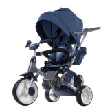 Tricicleta cu sezut reversibil Sun Baby 007 Little Tiger Melange Blue