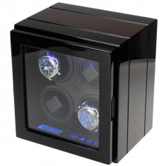 Cutie pentru intors ceasuri automatice iUni, Luxury Watch Winder 4 Mahon