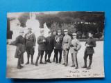 POZA veche GRUP MILITARI ROMANI SI FRANCEZI Versailes Franta ×  1930
