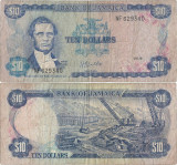 1979 ( 1 X ) , 10 dollars ( P-67a.2 ) - Jamaica