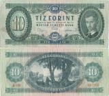 1969 ( 30 VI ) , 10 forint ( P-168d ) - Ungaria