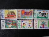 Serie timbre pictura copii stampilate Germania DDR timbre arta timbre picturi