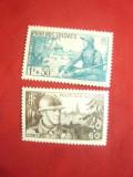 Serie -Pentru soldatii nostri 1940 ,2 valori Franta