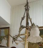 Elegant lampadar de dimensiuni impresionante din bronz masiv in stilul francez