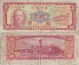 1968 ( 1 VIII ) , 10 new taiwan dollars ( P-1970 ) - Taiwan