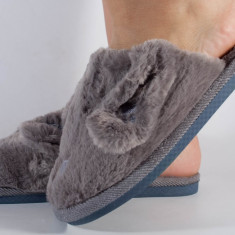 Papuci de casa gri (cod 418004)