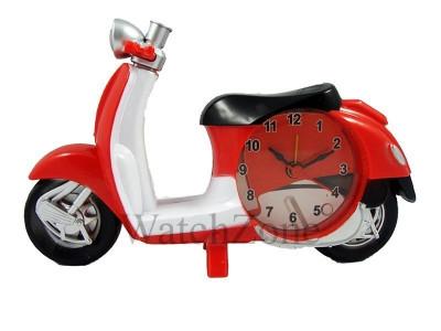 Ceas cu alarma scuter rosu Moto Clock XL1302-2 foto
