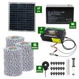 Pachet gard electric cu Panou solar 3,1J putere cu 3000m Fir 120Kg