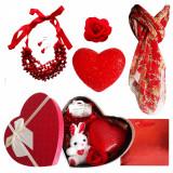 Pachet  cadou Valentine s Day set bijuterii, lampa dragostei, brosa  si esarfa, Cadouri pentru femei, Cadouri Valentine`s Day