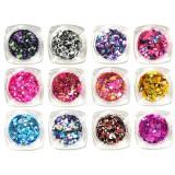 Paiete Confetti Unghii Multicolore - Set