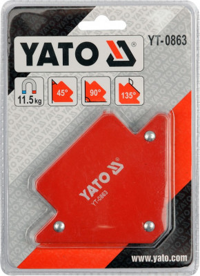 Dispozitiv magnetic fixare pentru sudura 82x120x13 mm YATO foto