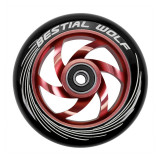 Roata Trotineta Bestial Wolf Twister 110mm + Abec 9 Black/Red